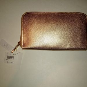 NWT Rose Gold Minicci Wallet